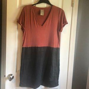 Super cute Anthropologie color block dress size M